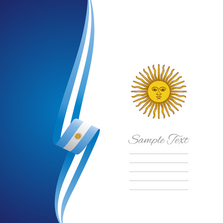 Argentinean left side brochure cover vector