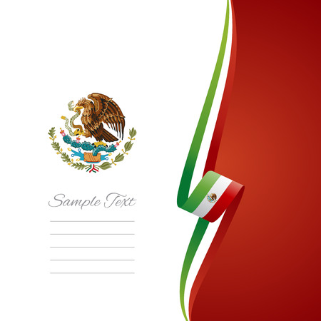 Mexican right side brochure cover vector Illustration