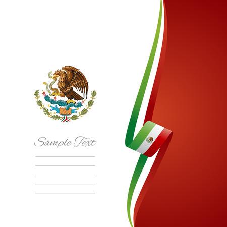 page couverture: Couverture de la brochure vecteur mexicain de droite Illustration