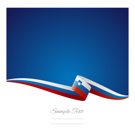 slovenian: Abstract color background Slovenian flag