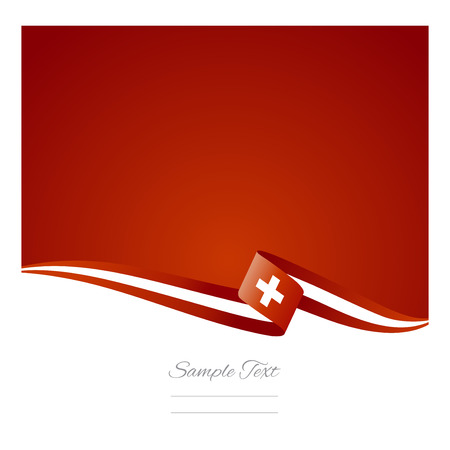 swiss flag: Abstract color background Swiss flag vector Illustration