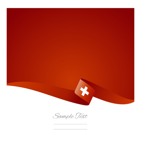 Swiss flag abstract color background vector