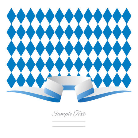 Abstract background New Bavarian flag ribbon Vector