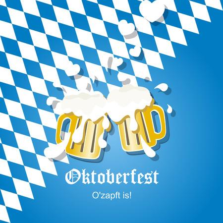 In love beer Oktoberfest 2014  Vector