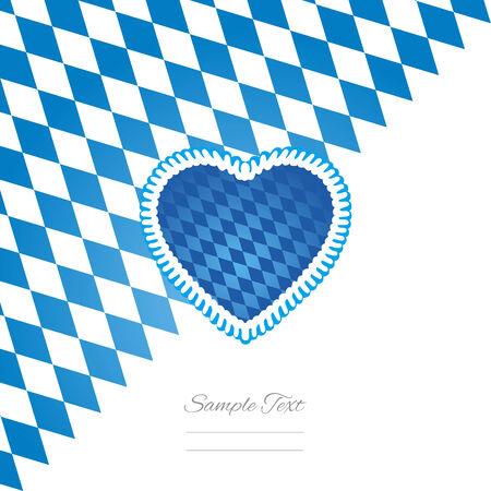 german tradition: Oktoberfest heart white background vector