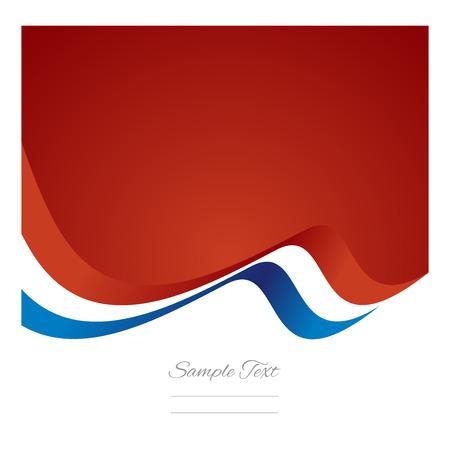 Abstract French flag ribbon vector Illustration