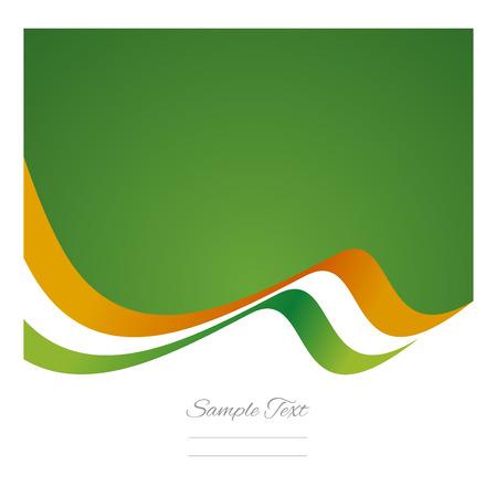 irish christmas: Abstract Irish flag ribbon vector