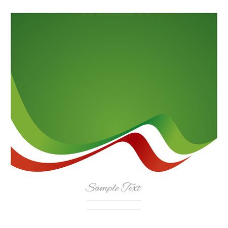 bandera mexicana: Vector de la cinta de la bandera mexicana Resumen
