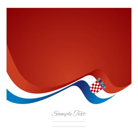 croatian: Abstract Croatian flag ribbon