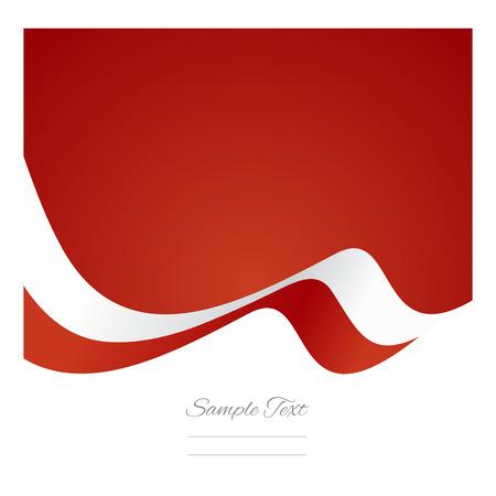 polish flag: Abstract Polish flag ribbon