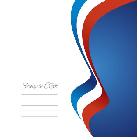 French right flag ribbon  Illustration