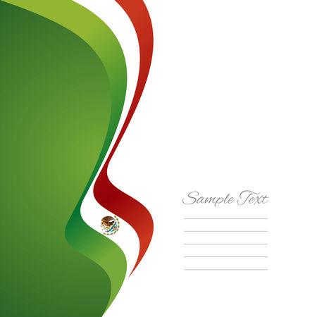 drapeau mexicain: Ruban de drapeau gauche mexicaine