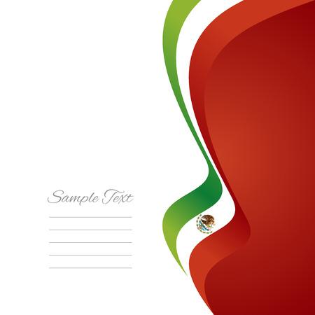 bandera mexicana: Cinta de la bandera mexicana derecha Vectores