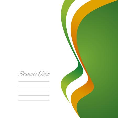 irish christmas: Irish right flag ribbon  Illustration
