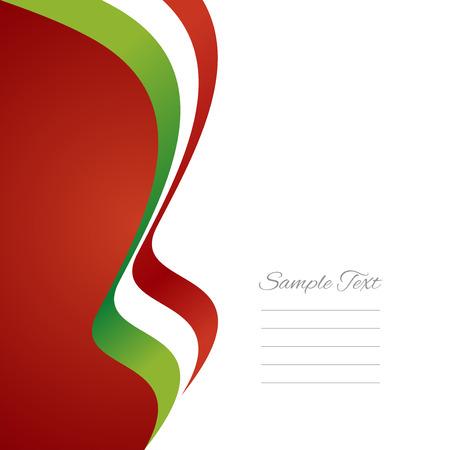 イタリアの左旗リボン ベクトル