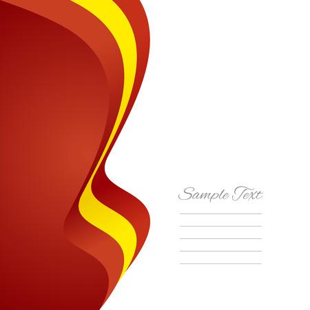 spanish flag: Spanish left flag ribbon vector Illustration