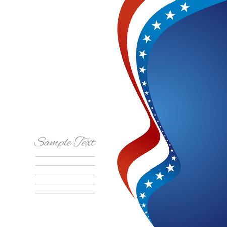 US right flag ribbon vector