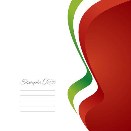 Italian right flag ribbon vector Vector