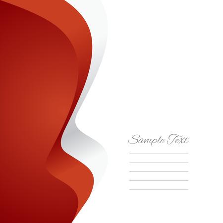 polish flag: Polish left flag ribbon vector