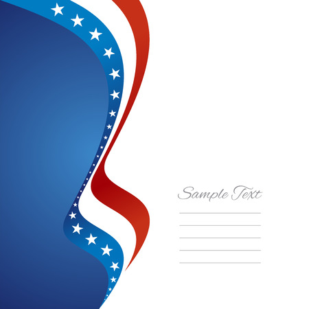 US left flag ribbon vector