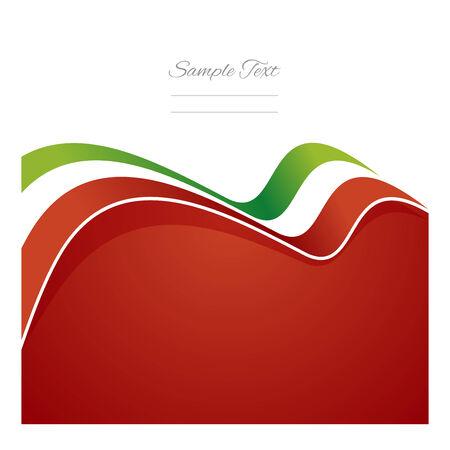 Italy abstract flag ribbon vector Vector