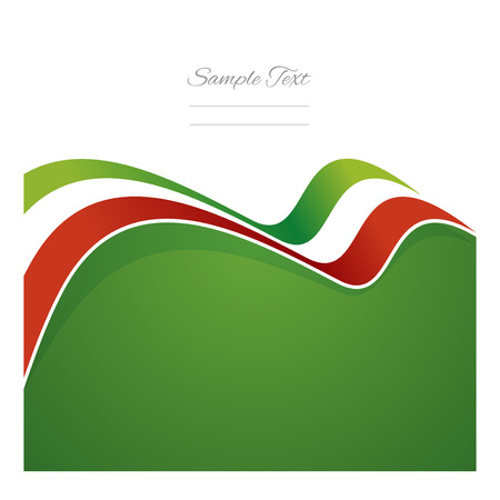 Mexico abstract flag ribbon vector