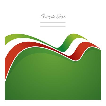 Mexico abstract flag ribbon vector Vector