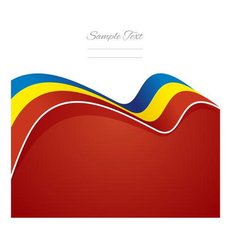 romania flag: Romania abstract flag ribbon vector Illustration