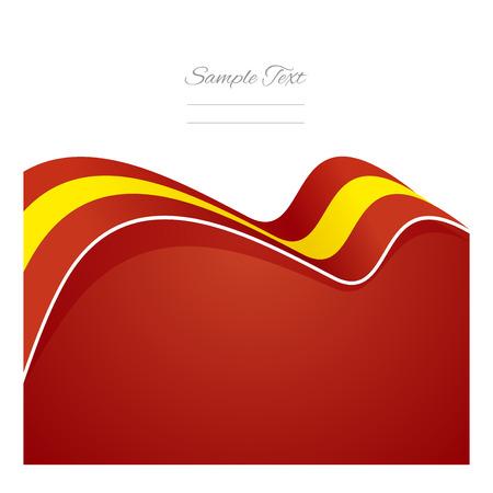 spain flag: Spain abstract flag ribbon vector Illustration