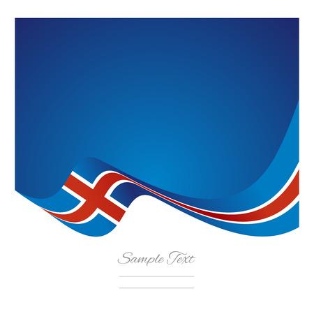 flag of iceland: Resumen Islandia cinta bandera vector