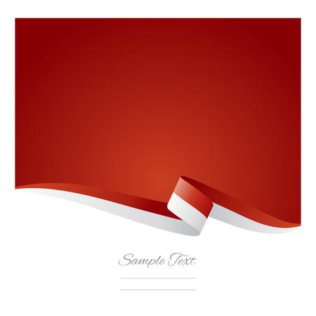 Abstrait arrière-plan de couleur drapeau indonésien vecteur