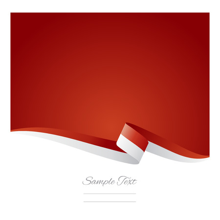 Abstract color background Indonesian flag vector