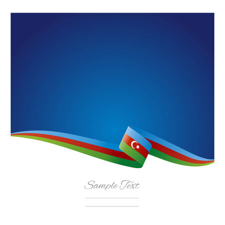 azerbaijani: Abstract color background Azerbaijani flag vector