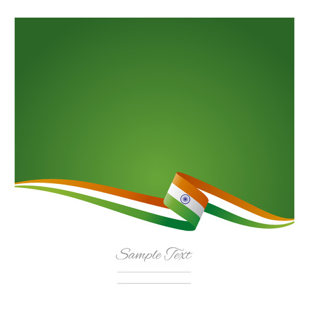 cool colors: Abstract color background Indian flag vector