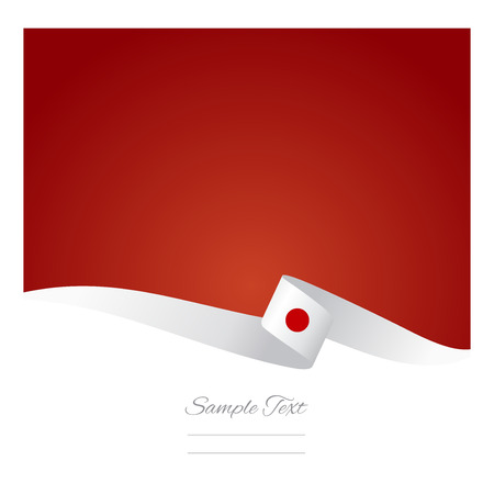 Abstract color background Japanese flag vector Illustration
