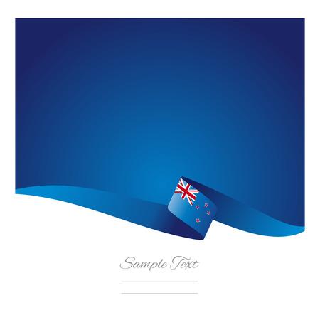 bandera de nueva zelanda: Fondo abstracto del color Nueva Zelanda bandera vector Vectores