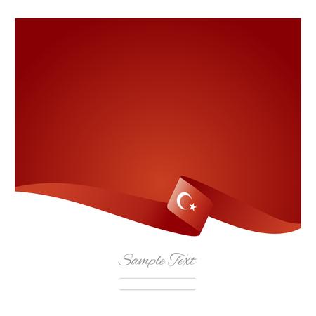 抽象的な背景のトルコのフラグ  イラスト・ベクター素材
