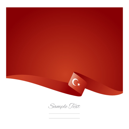 Abstract color background Turkish flag vector Ilustração