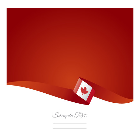 Canada flag abstract color background vector