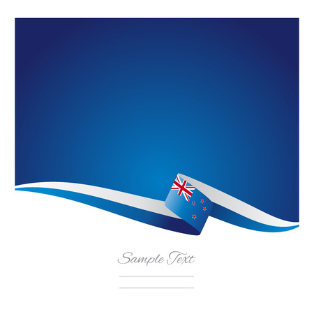 New Zealand flag abstract color background vector Illustration