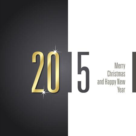 advent calendar: 2015 black white background vector Illustration