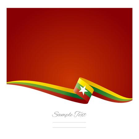 burmese: Abstract color background of Burmese flag