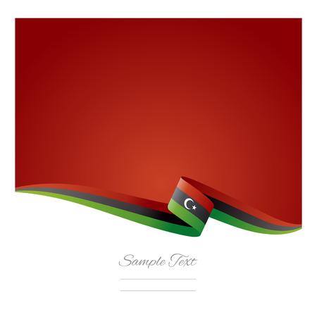 libysch: Zusammenfassung farbigen Hintergrund der libyschen Flagge
