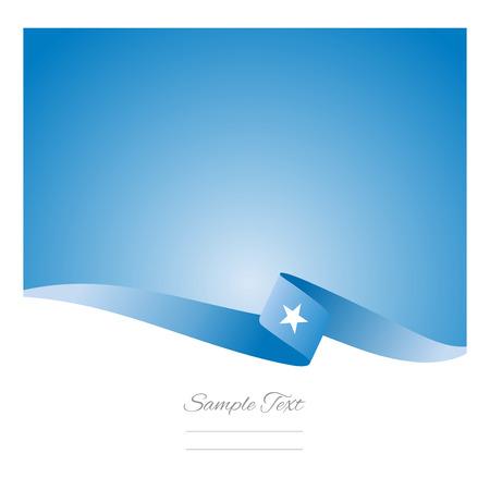 somali: Abstract color background of Somali flag Illustration