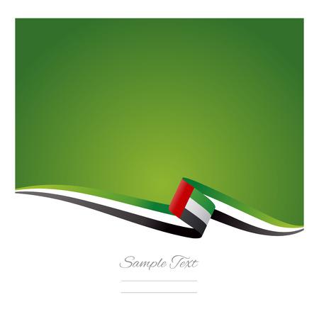 アラブ首長国連邦旗の抽象的な背景  イラスト・ベクター素材
