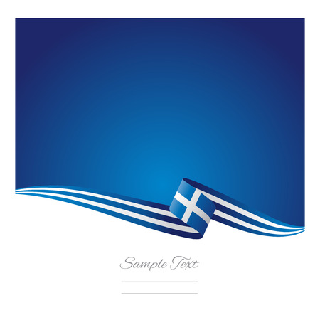 Greece flag abstract color background Ilustração