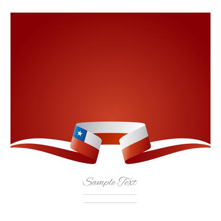 チリの旗リボンの抽象的な背景