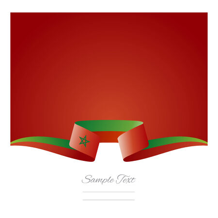 china flag: Abstract background Moroccan flag ribbon