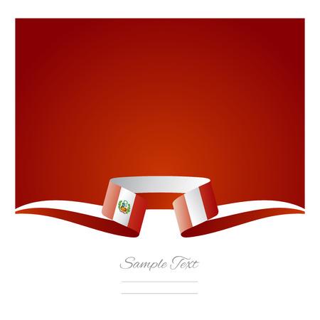 抽象的な背景ペルー国旗リボン