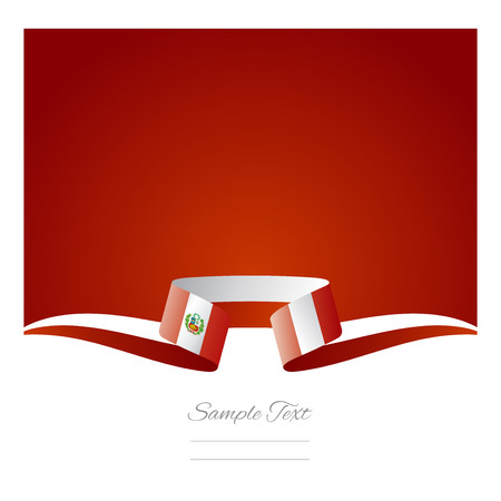 Abstract background Peruvian flag ribbon
